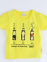 Camiseta Geométrico Algodón Manga Corta Verano