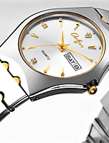 Women's Fashion Watch Japanese Quartz Calendar Water Resistant / Water Proof Alloy Band Casual Silver
