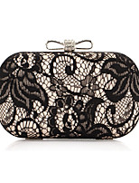 Women Evening Bag Polyester All Seasons Formal Event/Party Wedding Baguette Lace Clasp Lock Silver Gold