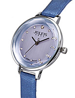 Women's Fashion Watch Quartz Water Resistant / Water Proof Leather Band Casual White Blue Red Grey Gold