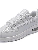Da uomo Sneakers Tulle Primavera Autunno Lacci Piatto Bianco Nero Piatto