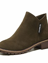 Women's Boots Comfort PU Spring Casual Comfort Black Brown Green Flat