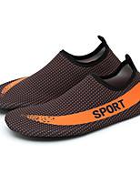 Для мужчин Мокасины и Свитер Пара обуви Ткань Весна Лето Для прогулок Дышащая спортивная обувь На плоской подошвеОранжевый Серый Красный