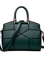 Women Tote PU All Seasons Formal Casual Event/Party Wedding Office & Career Shell Zipper Blushing Pink Black Green