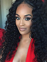 100% Human Vigin Hair Full Lace Wigs 180% Density Peruvian Deep Curly Full Lace Human Hair Wigs Glueless Human Hair Lace Front Wigs For Black Women