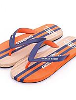 Herren Slippers & Flip-Flops Komfort PVC Frühling Normal Komfort Orange Flach