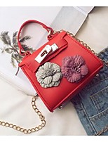 Women Clutch PU All Seasons Casual Baguette Floral Clasp Lock khaki Brown Gray Blushing Pink Red