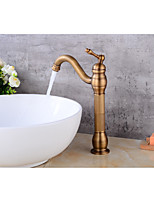 Contemporary Centerset Rotatable with  Ceramic Valve Single Handle One Hole for  Antique Copper , Bathroom Sink Faucet