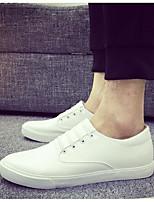 Da uomo Sneakers Comoda PU (Poliuretano) Primavera Casual Bianco Nero Piatto