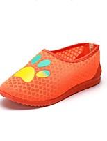 Для женщин Мокасины и Свитер Удобная обувь Тюль Лето Повседневные Для прогулок Удобная обувь На плоской подошве Оранжевый Менее 2,5 см