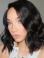Новый стиль бразильские виргинские волосы bob парики рыхлые волны 150% плотность передние кружева человеческие волосы парики короткие