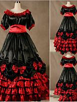 Une Pièce/Robes Gothique Lolita Cosplay Vêtrements Lolita Rétro Mancheron Manches Courtes Ras du Sol Robe Pour Autre