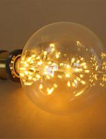 3W E27 Lâmpada Redonda LED G125 48 LED Integrado 250 lm Branco Quente Decorativa Regulável AC 220-240 V 1 pç