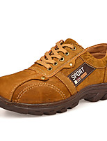 Men's Oxfords Comfort Nappa Leather All Seasons Casual Outdoor Office & Career Hiking Comfort Lace-up Flat Heel Brown Yellow Flat