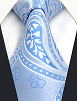 CS9  New For Mens Necktie Blue Paisley 100% Silk Classic Handmade Fashion Business For Men