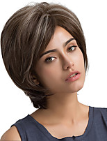Ash Brown Oblique fringe Natural Wave Short Hair Synthetic Wig