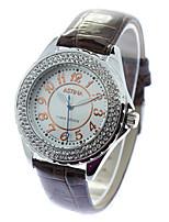 Женские Модные часы Кварцевый PU Группа Черный Белый Коричневый