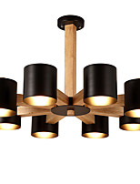 LightMyself 8 Lights Chandelier Modern/Contemporary Traditional/Classic Vintage Country Wood Feature for LED Wood Living Room Bedroom Dining Room