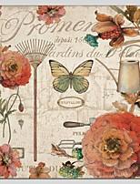 Ручная роспись Цветочные мотивы/ботаническийАбстракция 1 панель Холст Hang-роспись маслом For Украшение дома