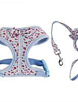 Harness Leash Portable Breathable Foldable Adjustable Safety Flower/Floral Bowknot British Fabric Mesh Cotton