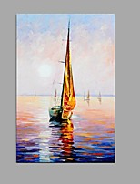 Hand-Painted Abstract Sailing Seascape Oil Painting Home Office Decoration With Stretched Frame Ready To Hang