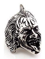 Bagues Affirmées Bijoux Vintage Hip-Hop euroaméricains Gothique Bijoux Fantaisie Afrique Acier inoxydableForme d'Animal Forme de Tête de