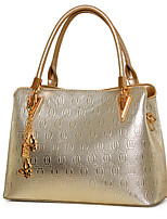 Women Shoulder Bag PU All Seasons Office & Career Baguette Zipper Beige Gold Pool