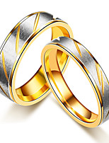 2PCS Couple's Rings  Band Rings Vintage Simple  Elegant Rose Gold Titanium Steel Ring Jewelry ForWedding Party Anniversary