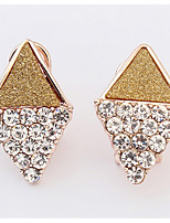 Euramerican  Elegant  Luxury  Rhinestones  Women's  Office & Career Ear Clips Movie Jewelry