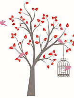 Wall Stickers Wall Decas Style The Birds in The Super Big Tree PVC Wall Stickers