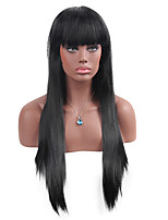 MAYSU Black Bangs  Very long hair   Synthetic Wig Woman Hair