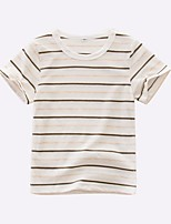 Striped Tee,Others Summer Short Sleeve Short