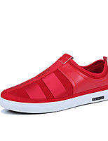 Men's Loafers & Slip-Ons Light Soles Fabric Spring Fall Casual Light Soles Flat Heel Red Black White Walking Shoes