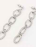 Euramerican Fashion  Chain Silver Rhinestone  Women's  Casual  Earrings Statement Jewelry