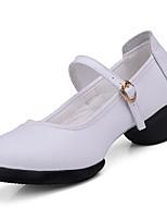 Нет Для женщин Танцевальные кроссовки Натуральная кожа На каблуках Учебный На толстом каблуке Белый Черный Красный Более 10 см