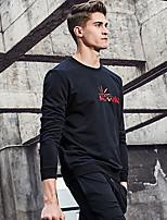Sweatshirt Homme Décontracté / Quotidien Lettre Col Ras du Cou non élastique Coton Manches longues Printemps Automne Hiver