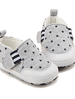 Baby Loafers & Slip-Ons First Walkers Fabric Spring Fall Casual First Walkers Gray Black Flat