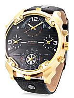Homens Adulto Relógio Esportivo Relógio de Moda Relógio de Pulso Único Criativo relógio Chinês QuartzoCalendário Impermeável Dois Fusos
