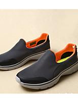 Для мужчин Мокасины и Свитер Удобная обувь Тюль Ткань Весна Повседневный Черный Серый Морской синий На плоской подошве