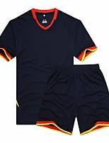 Football Tee-shirt Eté Couleur Pleine Imprimé Coolmax Course Autres Badminton