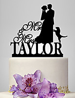 Personalized Acrylic Affectionate Gaze Wedding Cake Topper