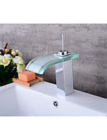 Centerset WaterfallElectroplated , Bathroom Sink Faucet