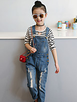 Girls' Solid Overall & Jumpsuit Summer