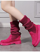 Women's Boots Comfort Silicone Spring Casual Comfort Fuchsia Purple Black Flat