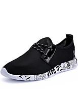 Homme Chaussures d'Athlétisme Confort Polyuréthane Printemps Automne Décontracté / Quotidien Marche Confort Lacet Talon PlatNoir Noir et