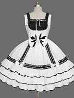 Women's Lolita Dress Cosplay Girl  Classic/Traditional Lolita Sexy Cosplay Lolita Dress Fashion Solid Color Vintage Cap Sleeveless Short / MiniTuxedo