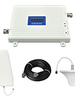 LCD Display 2G DCS 1800Mhz Mobile Phone Signal Booster 4G DCS980 Signal Repeater with Ceiling Antenna / Log Periodic Antenna / Cable / White