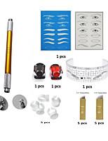 Schminkkasten Augenbrauen Lippen Eyeliner/Lidstrich Tattoo-Maschinen 12 Flach 14 Flach