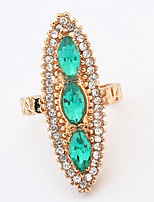 Bohemian Fashion Luxury Elegant Rhinestones Gemstones  Rings Women's Party And Daily Movie Jewelry