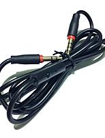 Kopfhörerkabel mit Mic-Talk 3.5mm männlich zu männlichen Stereo-Audio-Schnüre 110cm für Handy-Computer Notebooks und Laptops